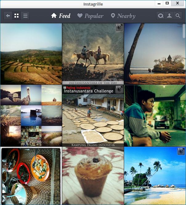 Jelajahi Instagram dengan Instagrille