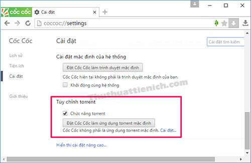 Cách download Torrent bằng trình duyệt web Cốc Cốc