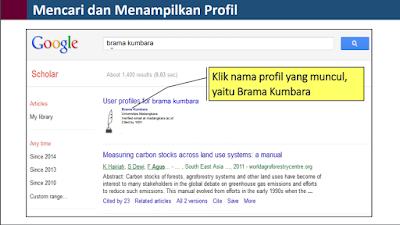 Cara mencari dan menampilkan Proril Google Scholar