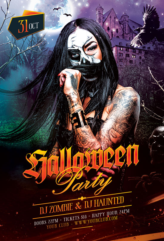 Halloween Party Flyer 28477098