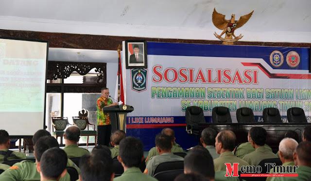 Sosialisasi Pengamanan Serentak Satuan Linmas Se-Kabupaten Lumajang 2018