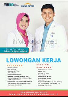 Loker BUMN Kimia Farma Bandung Agustus 2020