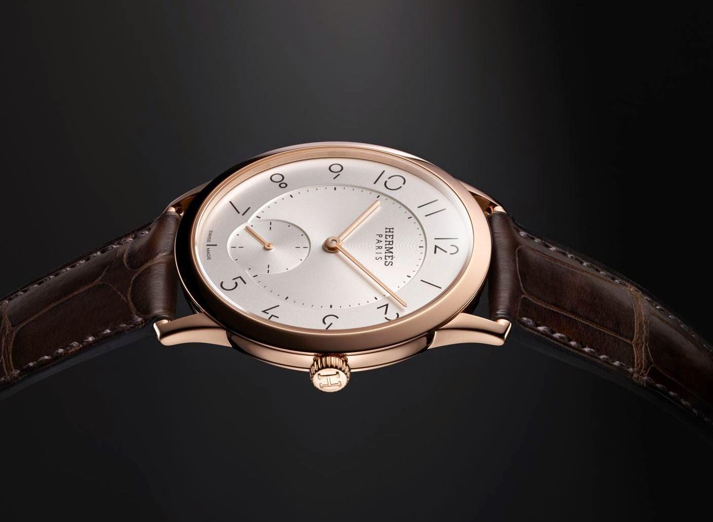 Hermès - Slim d'Hermès Petite Seconds Automatic watch with rose gold case