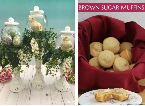 DIY Easter Cloche and Brown Sugar Muffins featured pins UPP 193