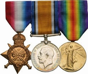 1914-15 Star, British War Medal & Victory Medal