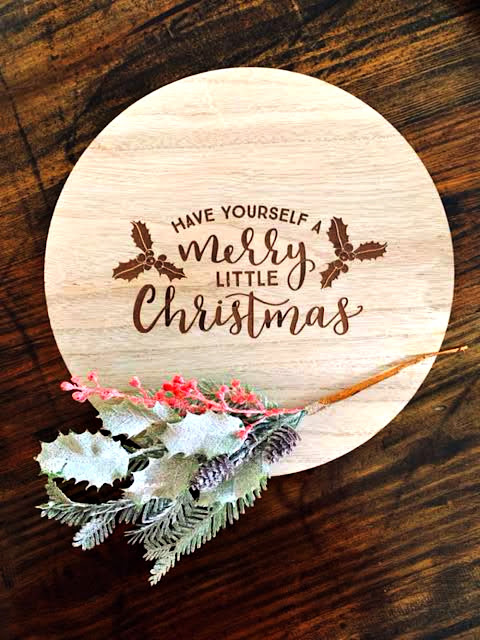 Wood Board, Serving Board, Christmas Board, At Home With Jemma