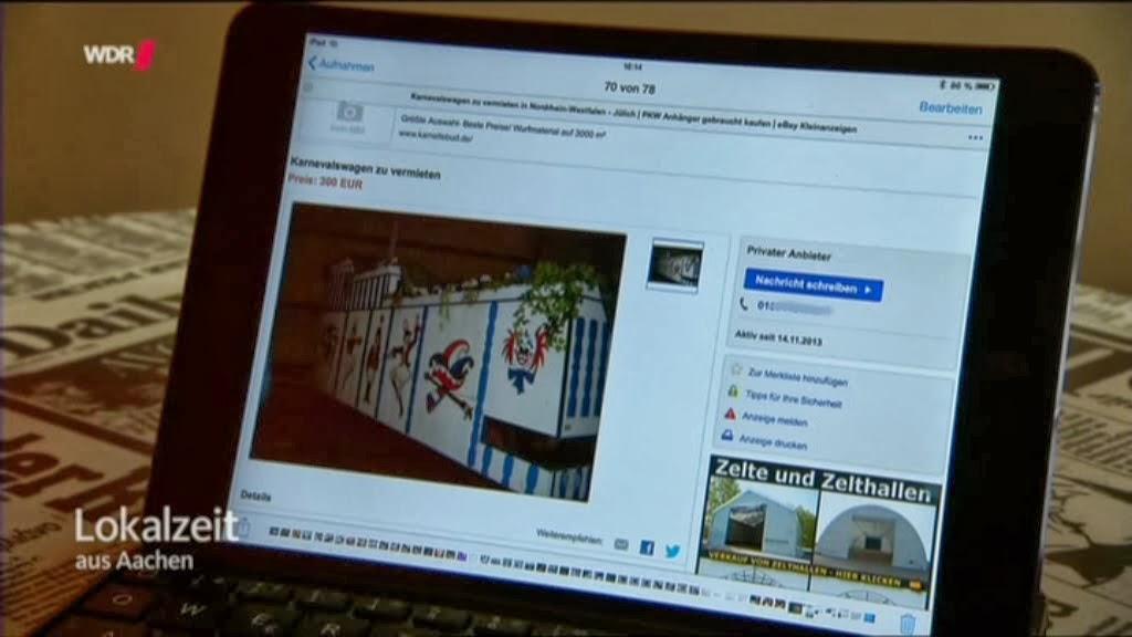 Gebrauchte Karnevalswagen Im Internet Lokalzeit Aachen