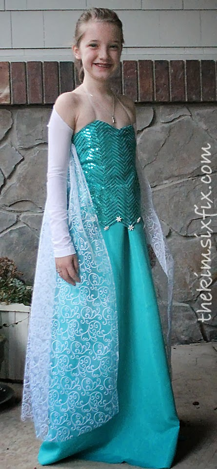 Elsa Frozen dress Elsa Costume  sc 1 st  The Kim Six Fix & DIY Elsa Dress (From Frozen) - The Kim Six Fix
