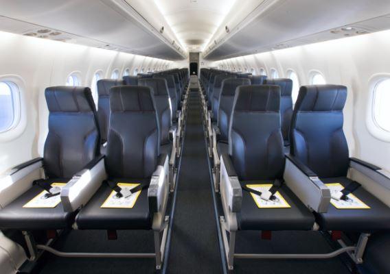 Bombardier Dash 8 Q400 interior