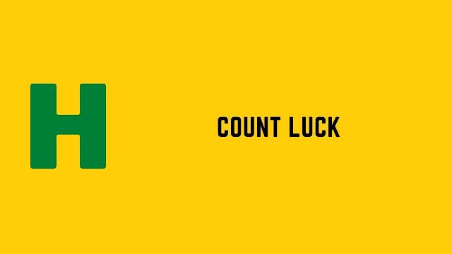 HackerRank Count Luck problem solution