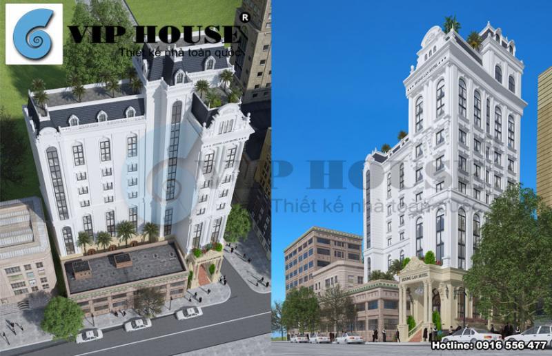 Hình ảnh: Phương án thiết kế khách sạn hai mặt tiền trên nền đất hình chữ L tại Quy Nhơn