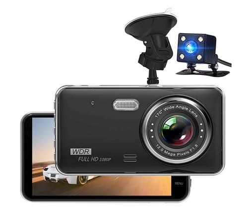 MILEXING Full HD Front and Rear Dual Dash Camera