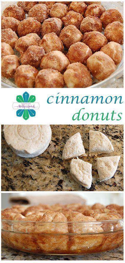THE WORLD'S EASIEST CINNAMON DONUT HOLES #cinnamondonut #cinnamon #donuts #donut #easyrecipes #easycook