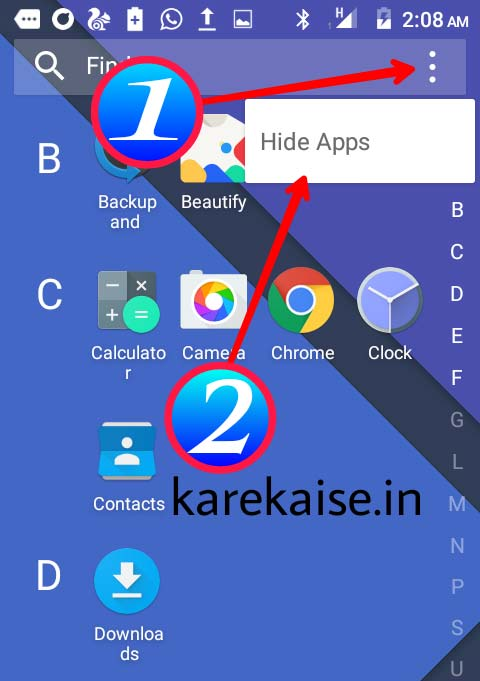 Android Mobile me apps hide kaise kare