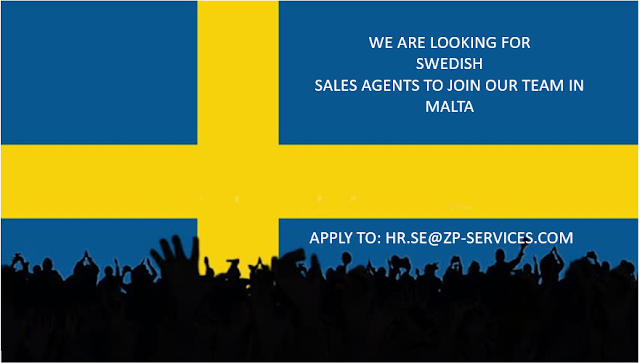 Calling for Swedish Sales Agent