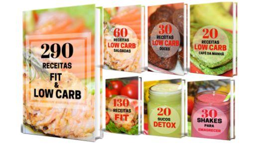 6 eBooks de Receitas Fit & Low Carb para Emagrecer com Saúde