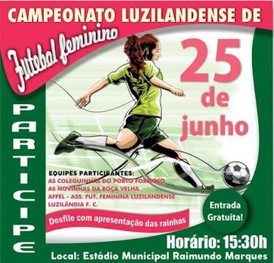 Luzilândia realizará campeonato histórico de futebol feminino