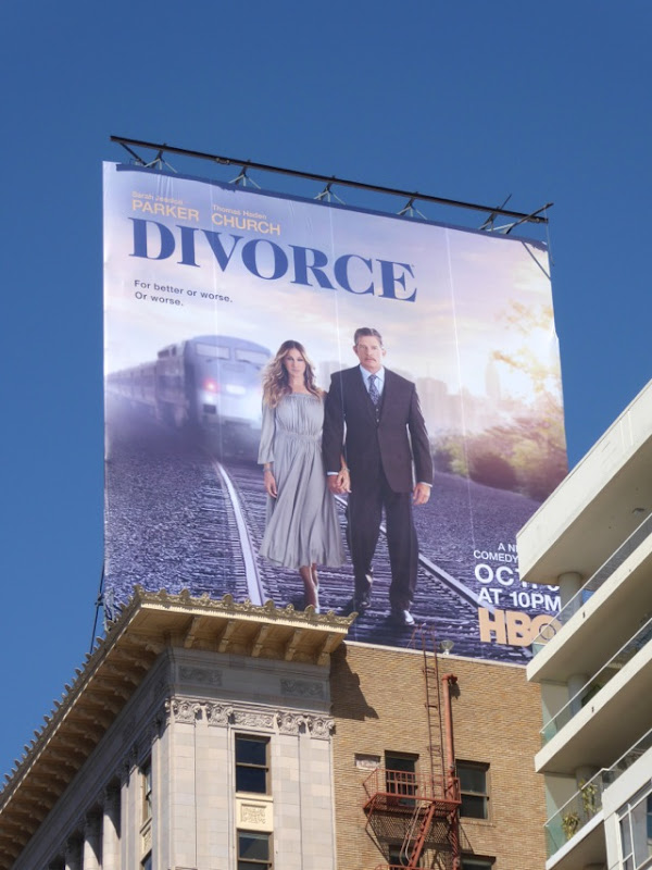 Divorce series premiere billboard