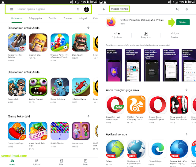 cara update browser mozilla firefox