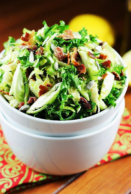 Shredded Brussels Sprouts and Kale Salad Image
