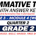 GRADE 2 SUMMATIVE TEST with Answer Key (Modules 3-4) 2ND QUARTER