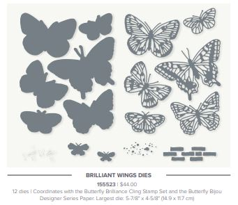 Stampin' Up! Brilliant Wings Dies from the 2021-2022 Stampin' Up! Annual Catalog