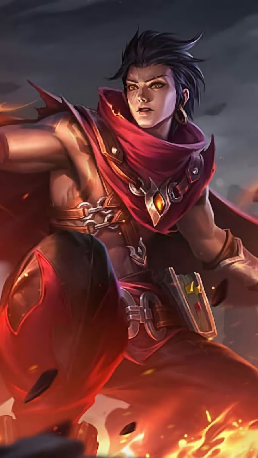 Wallpaper Valir Pale Flames Skin Mobile Legends HD for Android and iOS