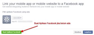 Monetisasi Blog Dengan Menampilkan Iklan Dari Facebook - Buat App Baru