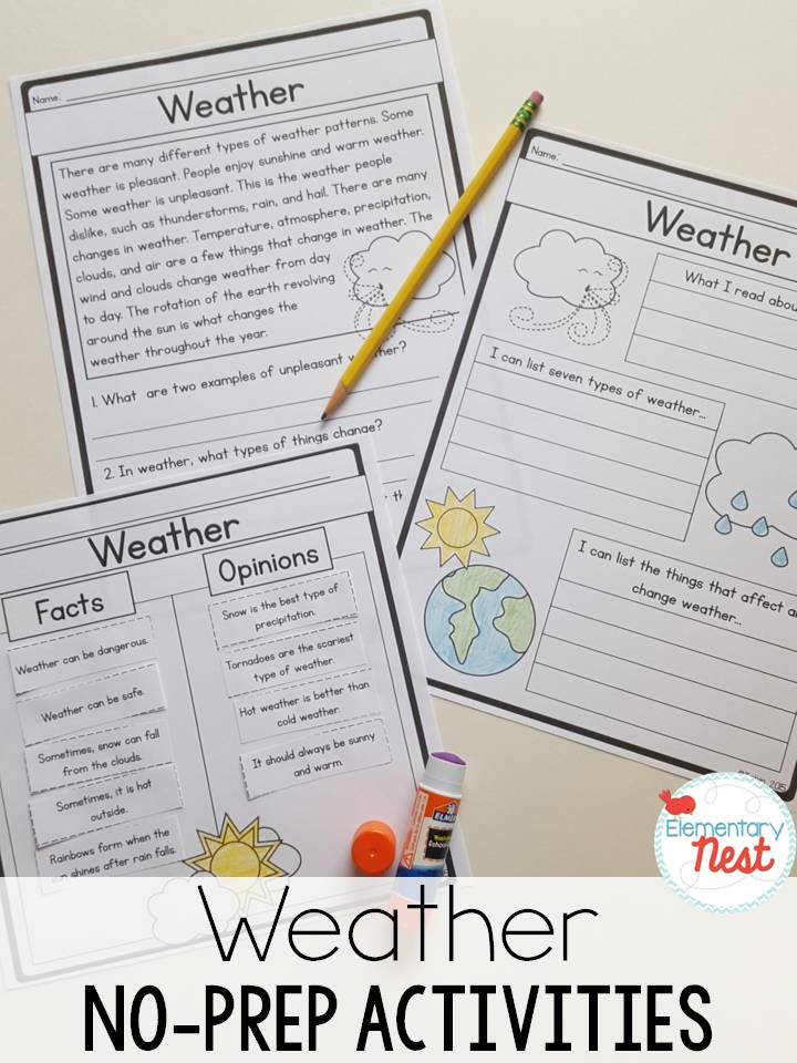 second grade nest teaching weather activities and resources. Black Bedroom Furniture Sets. Home Design Ideas