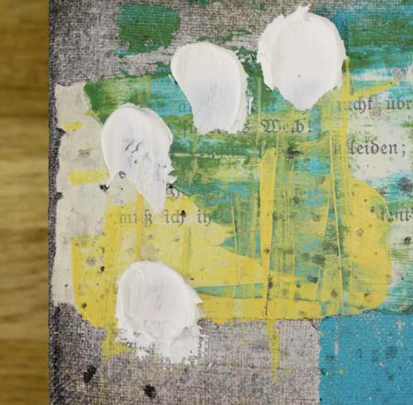 Mixed Media Keilrahmen bekleckst