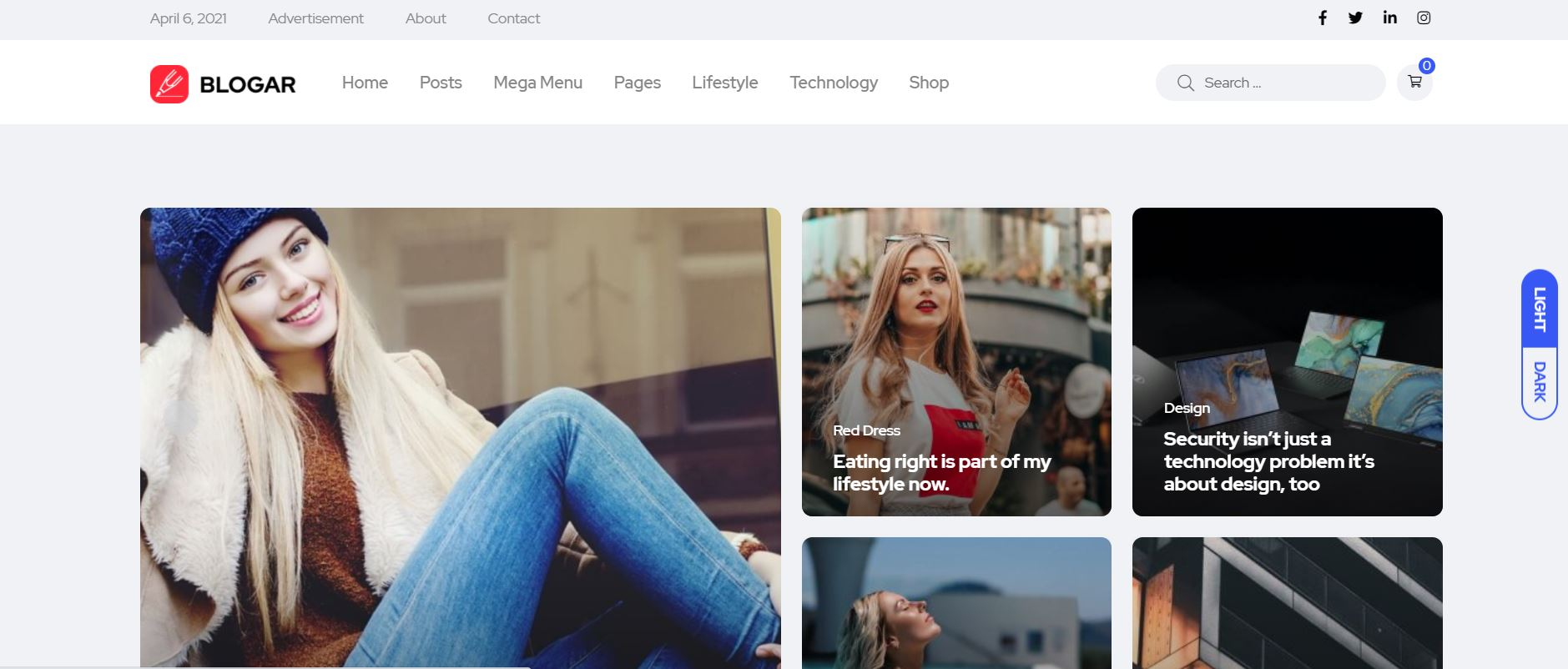 Blogar is a premium and trendy blog, Magazine, and Blog WordPress Theme with super flexibility and a fully responsive design.
