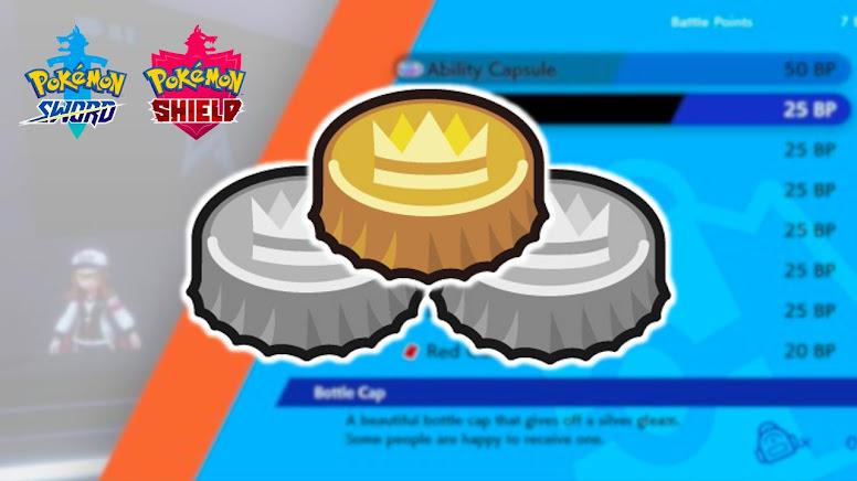 Gold Bottle Cap Pokémon Sword Shield