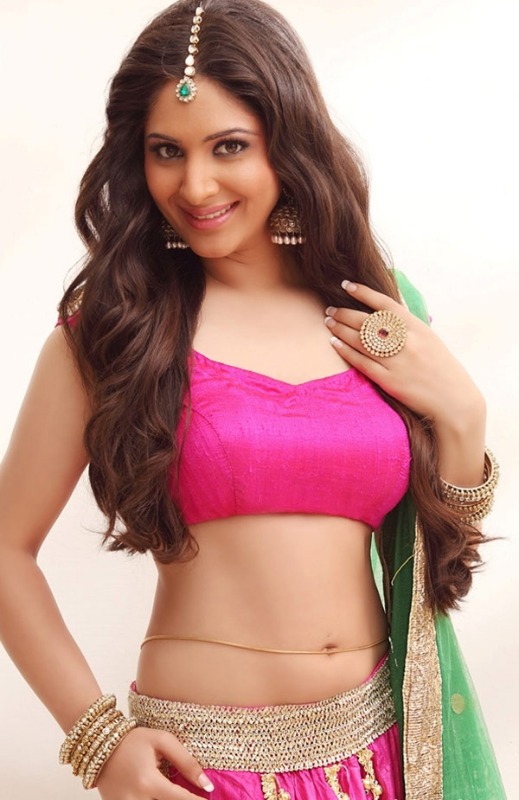Gowri Munjal Beautiful Belly With Gold Waist Chain