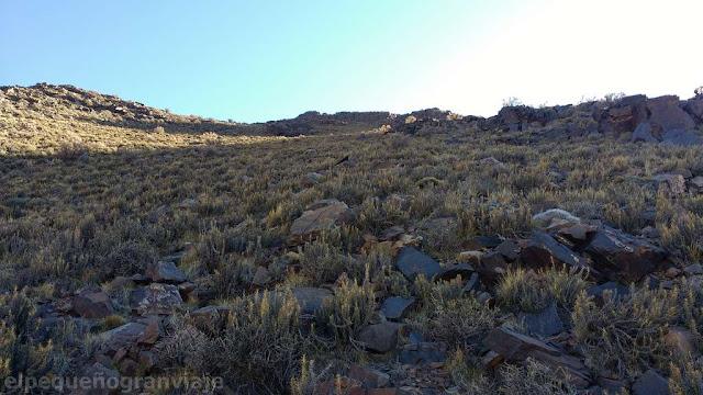 cerro bronce, ascenso, filo, portezuelo