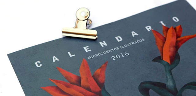 Calendario 2016 de ilustraciones . Illustrated 2016 calendar