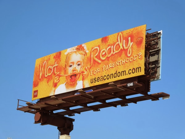 Not ready for parenthood messy spaghetti kid billboard