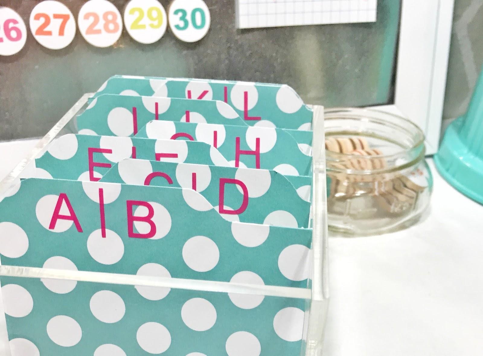 just my little mess: DIY Business Card Organization Box