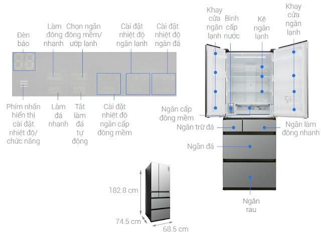 Tủ lạnh Panasonic Inverter 589 lít NR-F603GT-X2