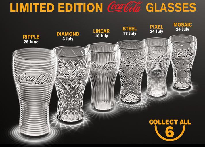MCDONALDS COKE GLASSES PROMOTION