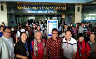 Virus Corona Sedang Disorot Dunia, Pemprov Sumbar Sambut 150 Wisatawan Asal Cina di Bandara Internasional Minangkabau