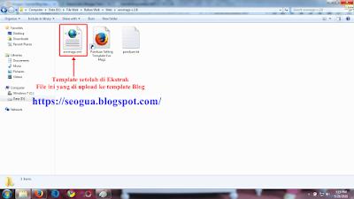 Cara mengekstrak file Template Blog Tahap 3