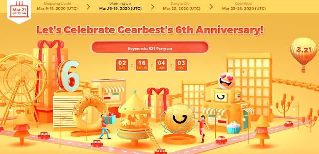 6º Aniversário da Gearbest - Grandes Promoções