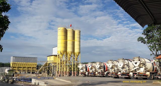 Công trình beton trộn sẵn 120m3/h Bàu Bàng