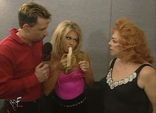 WWF Insurrexion 2000 - Teri Runnels eating a banana