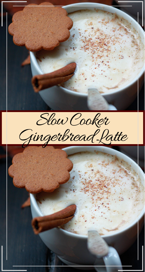 Slow Cooker Gingerbread Latte  #healthydrink #easyrecipe #cocktail #smoothie