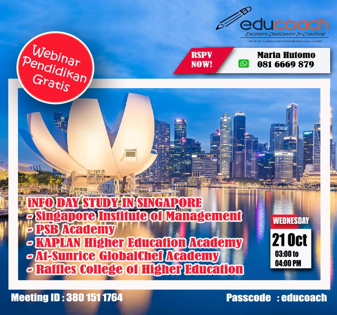 Konsultasi Studi Luar Negeri  | Info Day Study In Singapore