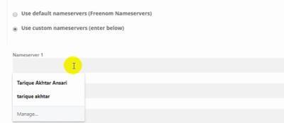 choose custom server options