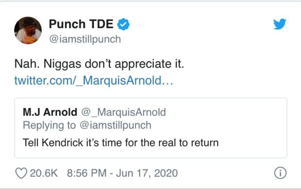 Tweets ya meneja wa Kendrick