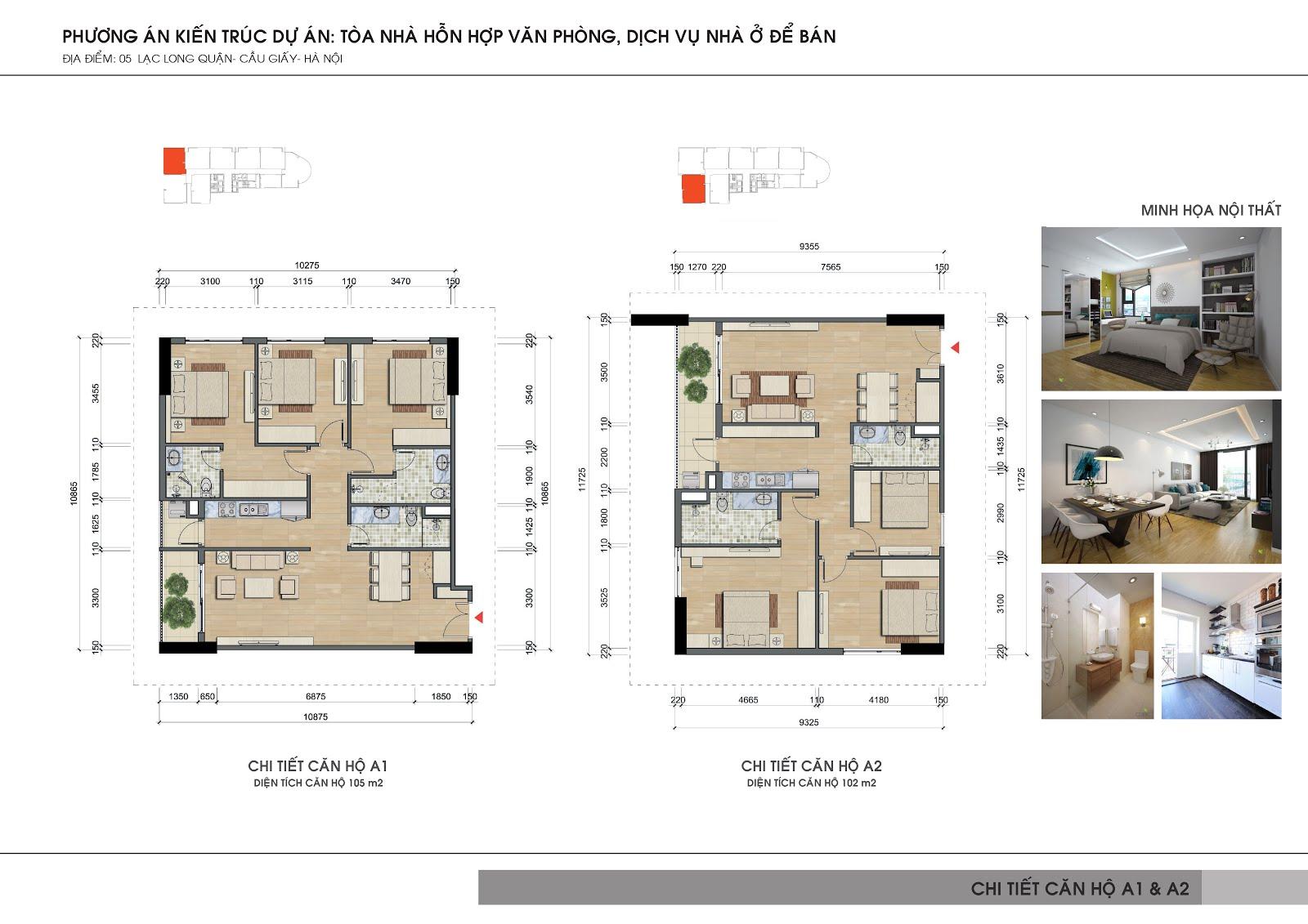 Thiết kế căn hộ Videc Lake View Lạc Long Quân