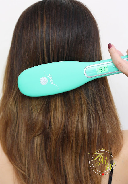 a photo of Irresistible Me Jade Hair Straightening Brush Review